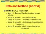 data and method cont d1