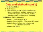 data and method cont d3