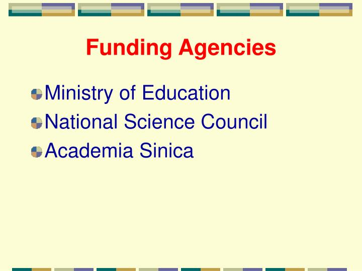 Funding Agencies