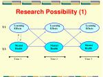 research possibility 1