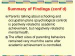 summary of findings cont d1