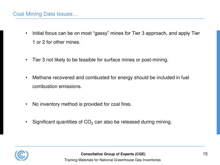 Coal Mining Data Issues…