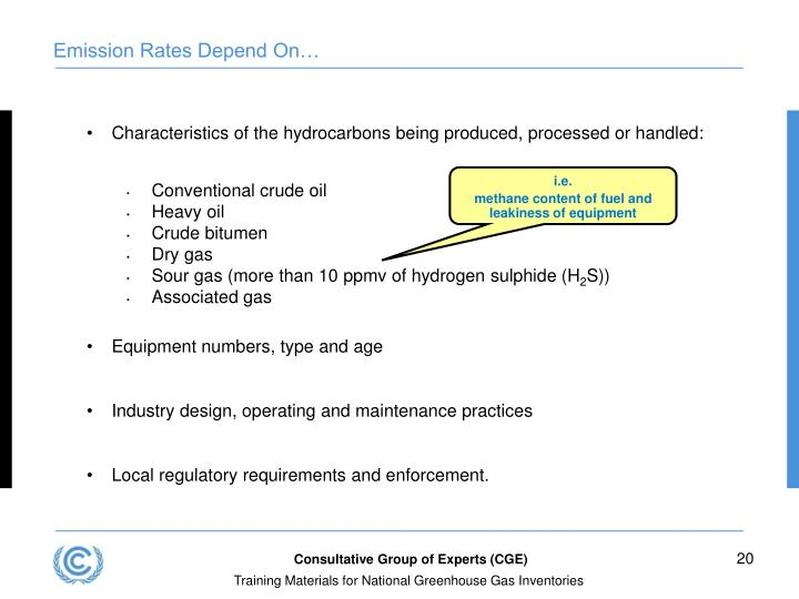 Characteristics of the hydrocarbons being produced, processed or handled: