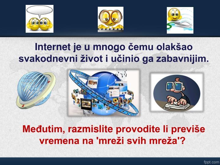 Internetje u mnogo