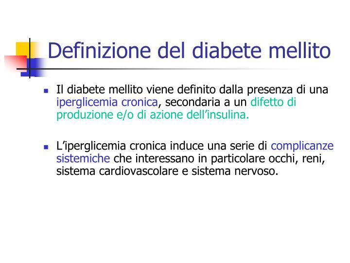 Definizione del diabete mellito