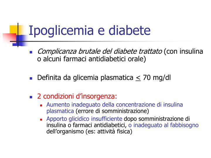 Ipoglicemia e diabete