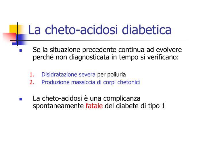 La cheto-acidosi diabetica