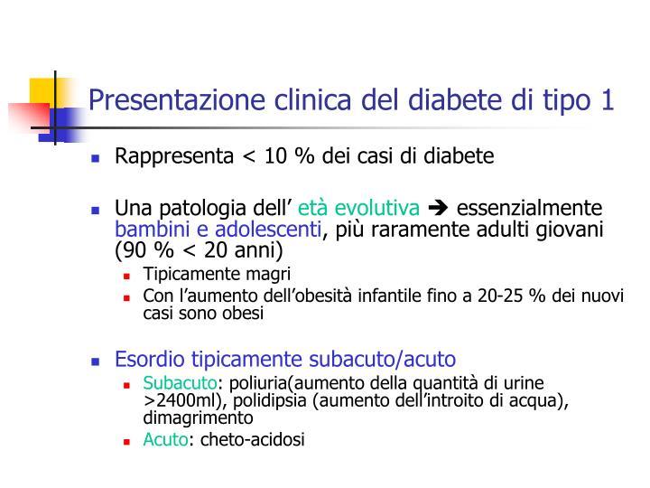 Presentazione clinica del diabete di tipo 1
