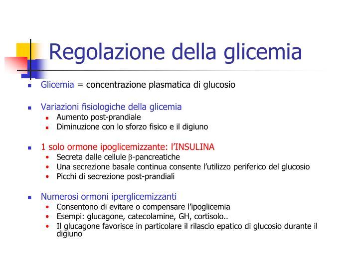 Regolazione della glicemia