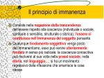 il principio di immanenza1