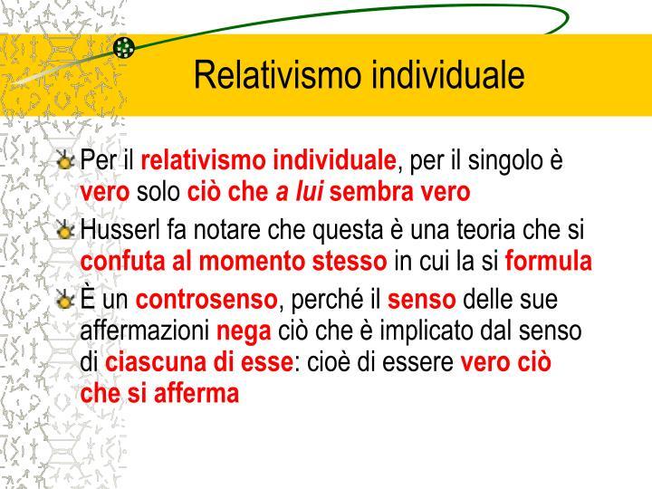Relativismo individuale