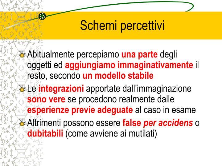 Schemi percettivi