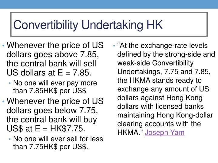 Convertibility Undertaking HK