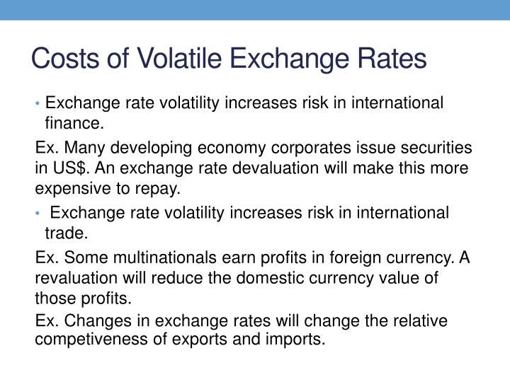 Costs of Volatile Exchange Rates