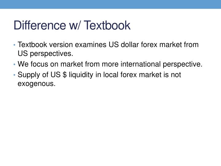 Difference w/ Textbook