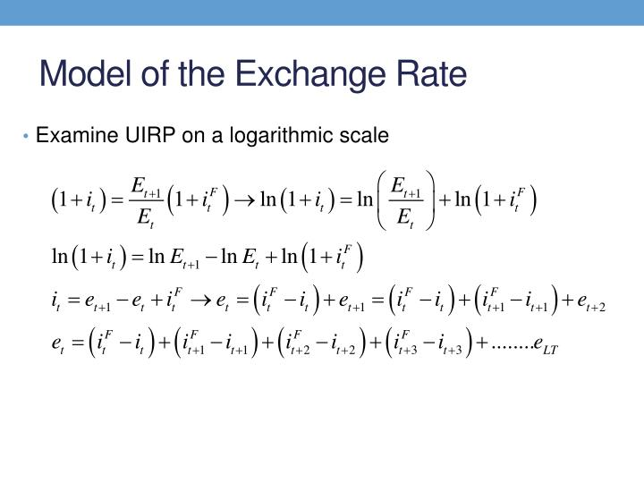 Model of the Exchange Rate