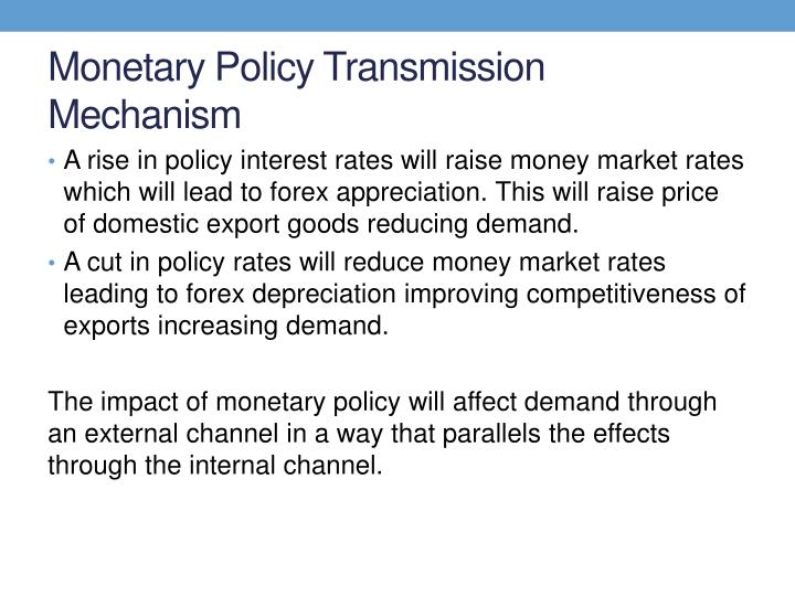 Monetary Policy Transmission Mechanism