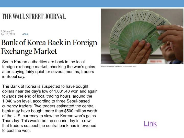 South Korean authorities are back in the local foreign-exchange market, checking the