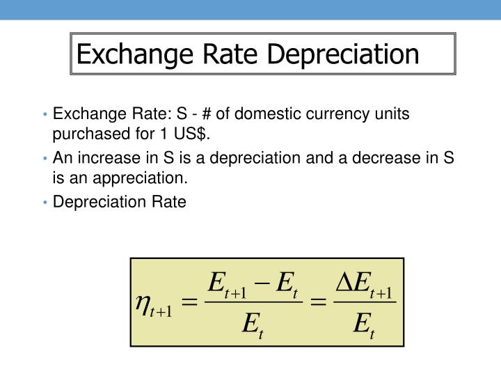 Exchange Rate Depreciation