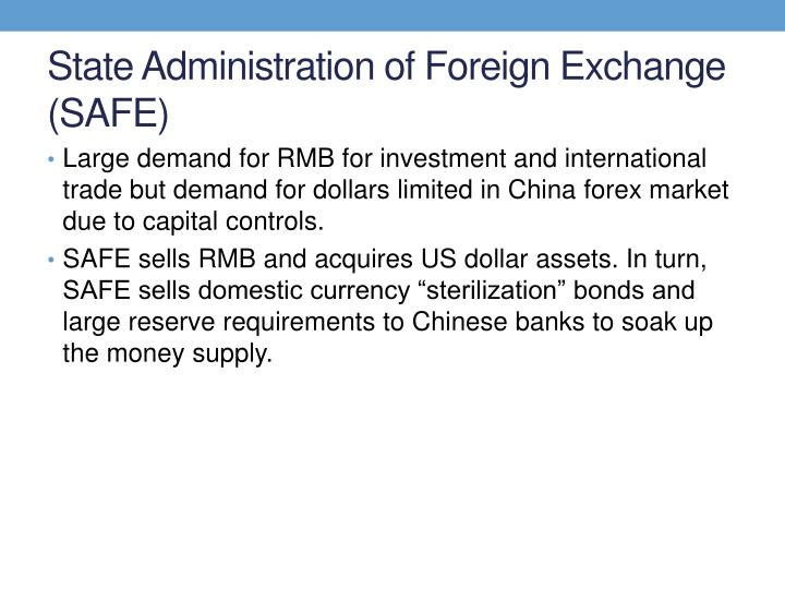 State Administration of Foreign Exchange (SAFE)