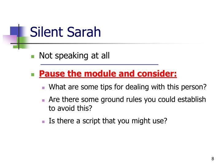 Silent Sarah