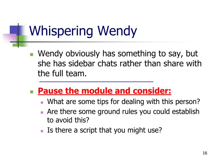 Whispering Wendy