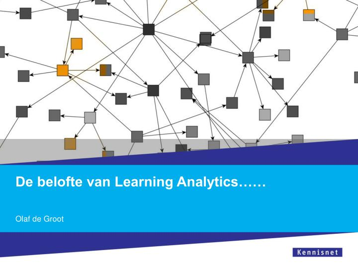 De belofte van learning analytics