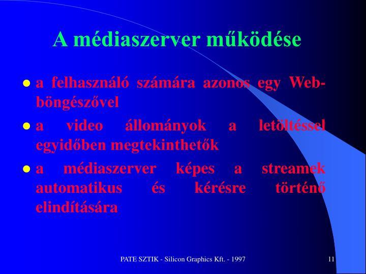 A médiaszerver működése