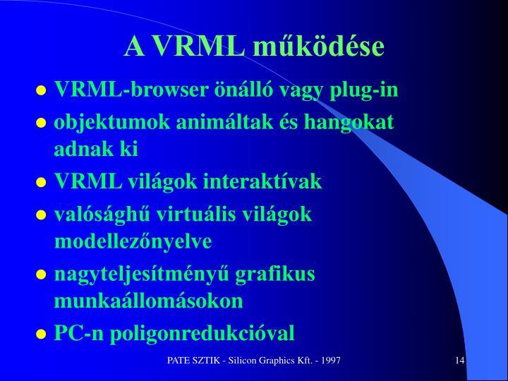 A VRML működése