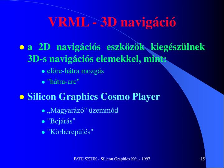 VRML - 3D navigáció