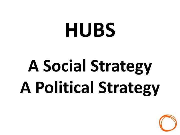 Hubs a social strategy a political strategy