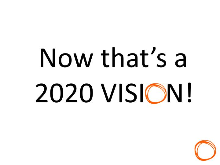 Now that's a 2020 VISI   N!