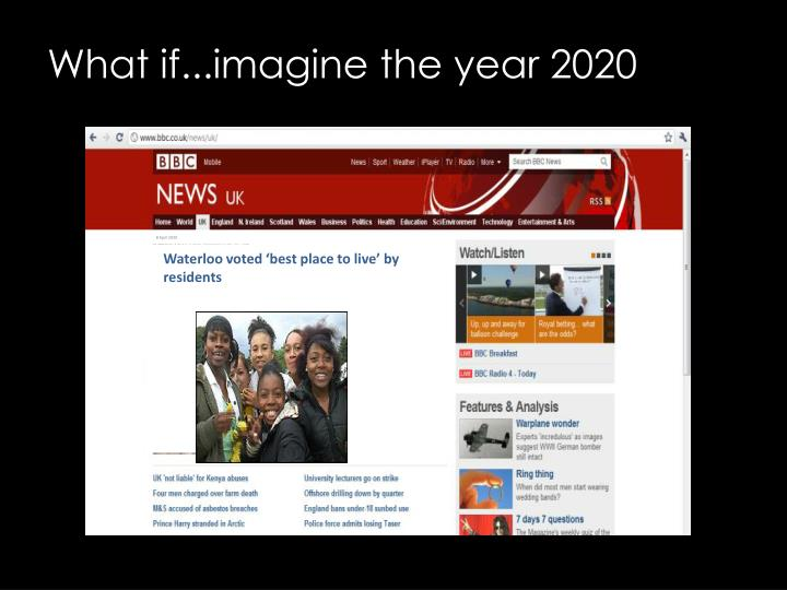 What if...imagine the year 2020