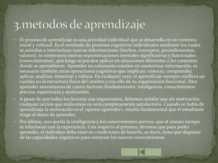 3.metodos de aprendizaje