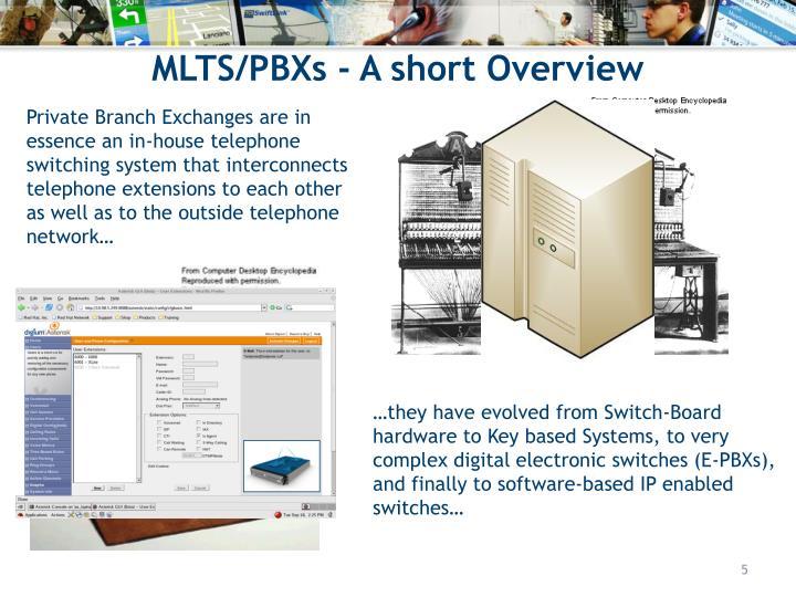 MLTS/PBXs - A