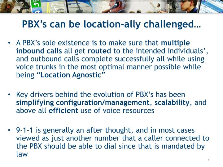 PBX's can be location-ally challenged…