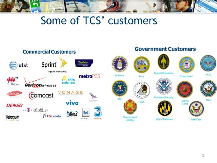 Some of tcs customers