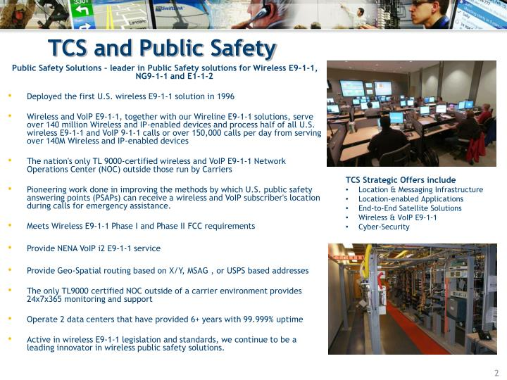 Tcs and public safety