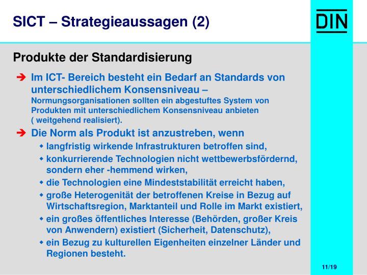 SICT – Strategieaussagen (2)