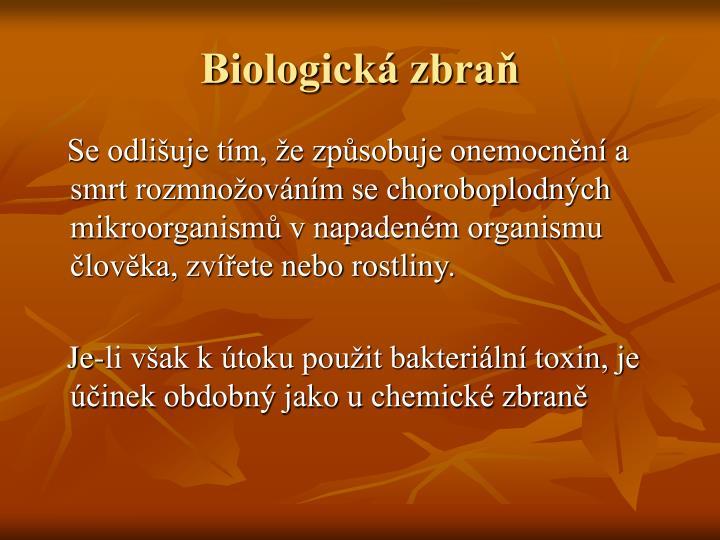 Biologická zbraň