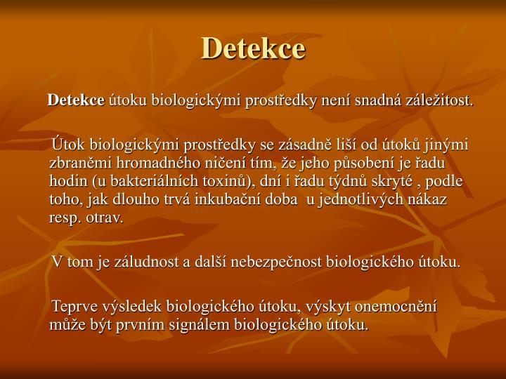 Detekce