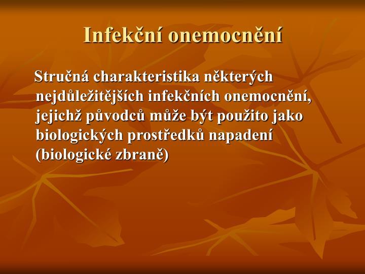 Infekční onemocnění