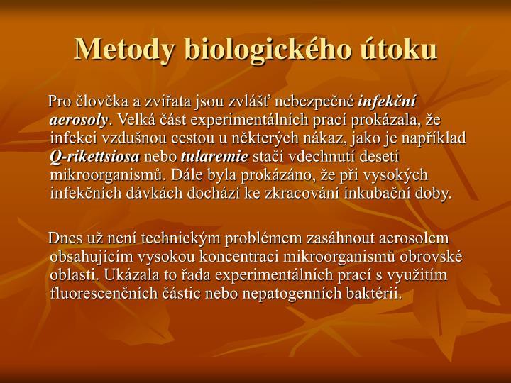 Metody biologického útoku