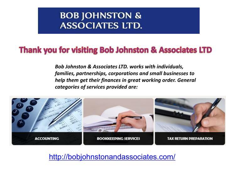 Thank you for visiting Bob Johnston & Associates LTD