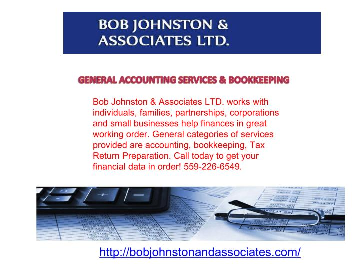 GENERAL ACCOUNTING SERVICES & BOOKKEEPING