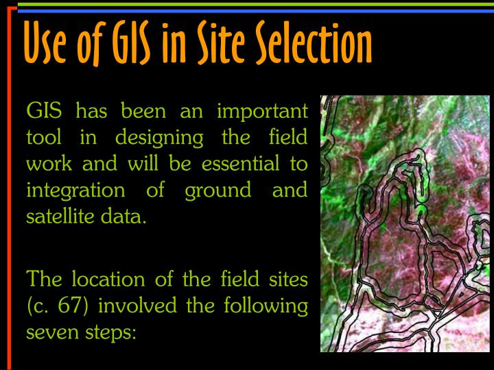 Use of GIS in Site Selection