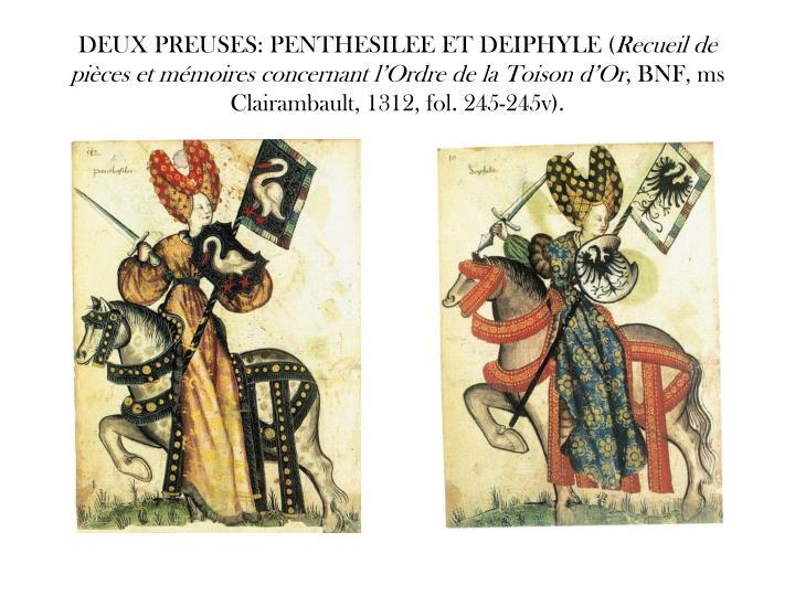 DEUX PREUSES: PENTHESILEE ET DEIPHYLE (