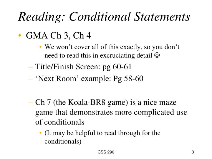 Reading conditional statements1