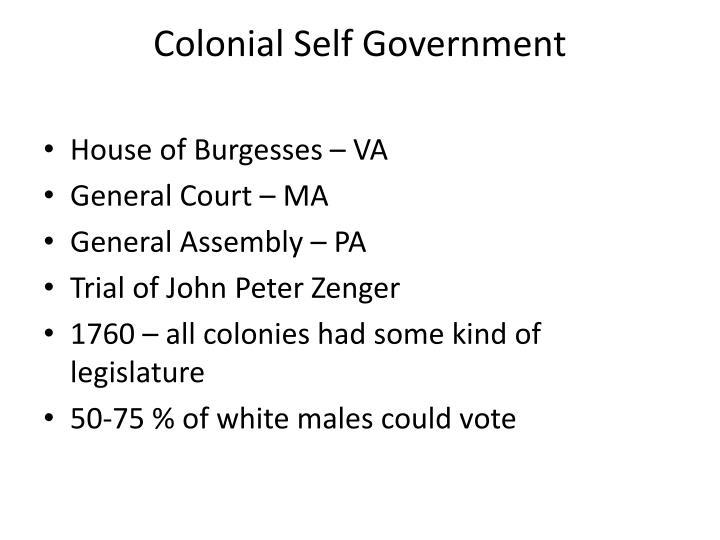 Colonial Self