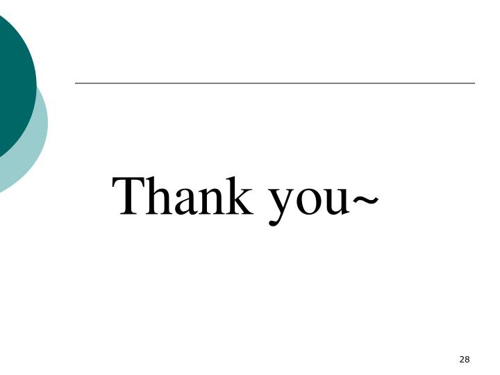 Thank you~